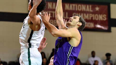 <p>               Furman's Clay Mounce battles for possession while defended by South Carolina Upstate's Josh Aldrich during the first half of an NCAA college basketball game Saturday, Dec. 8, 2018, in Spartanburg, S.C. (AP Photo/Richard Shiro)             </p>