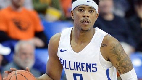 Saint Louis Billikens guard Jordan Goodwin, fall 2018.