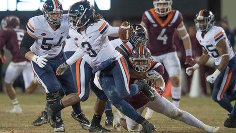 10. Belk Bowl: Virginia vs. South Carolina, Dec. 29