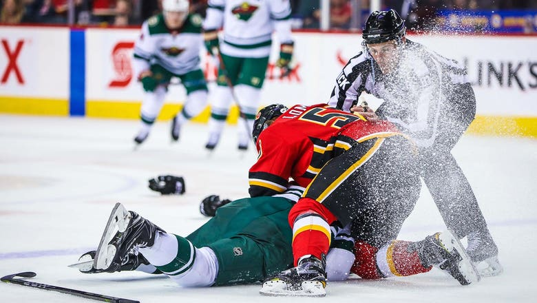 Flames' Lomberg suspended one game for altercation with Wild's Dumba