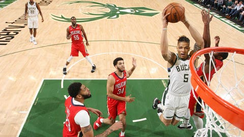 D.J. Wilson, Bucks forward (↓ DOWN)