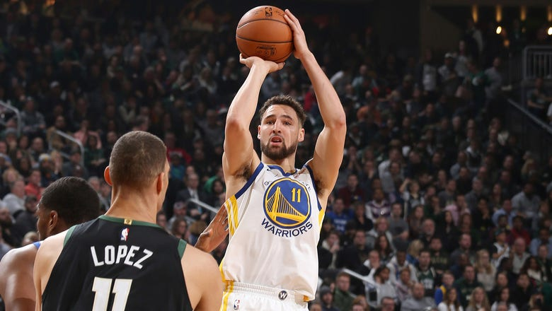 Warriors make 19 3s, deal Bucks 105-95 loss