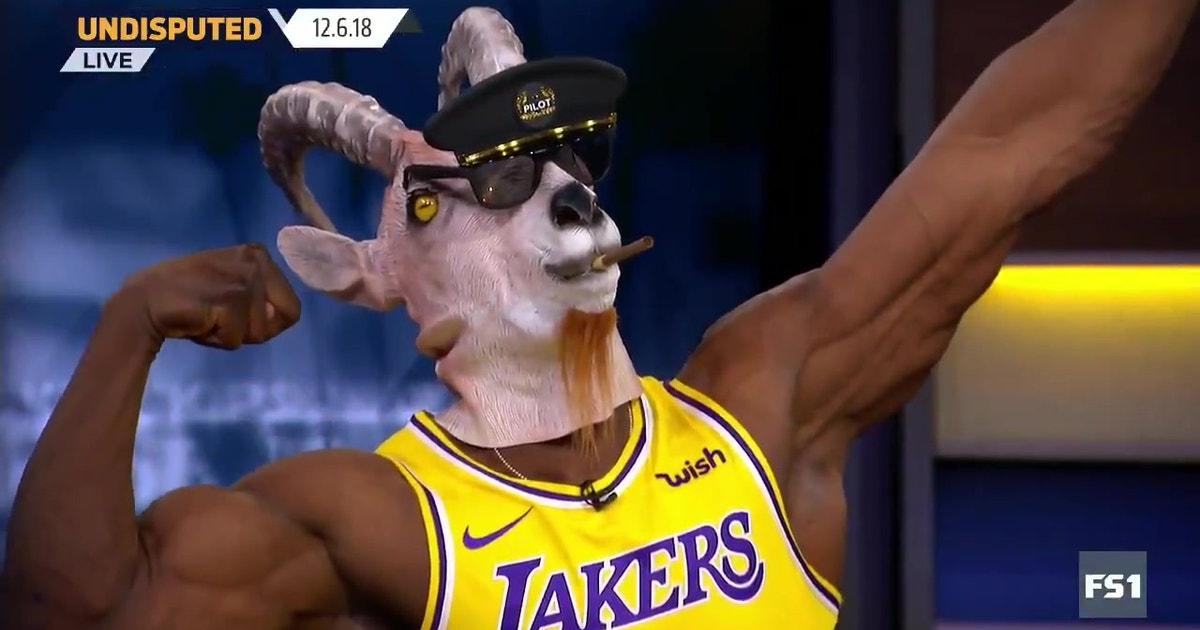 Shannon Sharpe busted out the goat mask and LeBron jersey after the King's  big game for the Lakers | FOX Sports