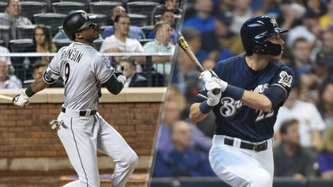 Jan. 25, 2018: Traded Isan Diaz, Monte Harrison, Jordan Yamamoto and Lewis Brinson to the Miami Marlins for Christian Yelich