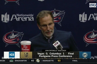 Tortorella says the Blue Jackets avoided 'bad puck luck' in win over Knights