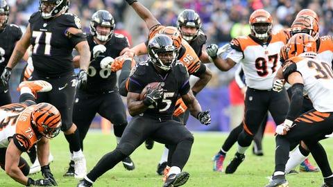 START: Gus Edwards, RB, Ravens