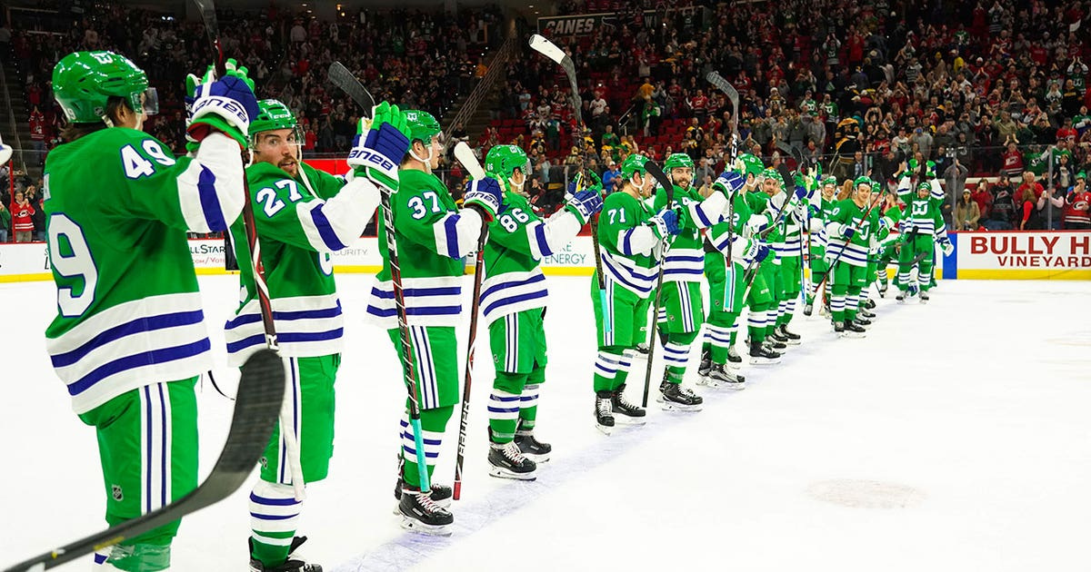 purchase cheap 8ec84 53f0e Hurricanes celebrate Whalers Night with win over Bruins