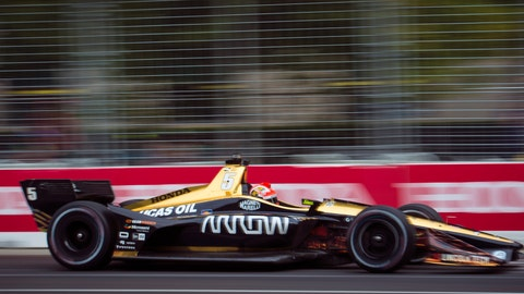 <p>               FILE - In this July 14, 2018, file photo, James Hinchcliffe races down the track during the third practice session of the IndyCar auto race in Toronto. Arrow Electronics has significantly increased its partnership with Schmidt Peterson Motorsports and will enter the 2019 season as the title partner of the IndyCar team. (Tijana Martin/The Canadian Press via AP, File)             </p>