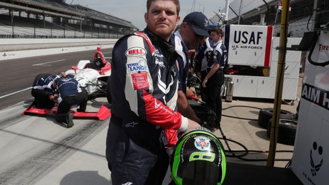 <p>               FILE - In this May 17, 2018, file photo, Conor Daly prepares to drive during a practice session for the IndyCar Indianapolis 500 auto race at Indianapolis Motor Speedway in Indianapolis. Andretti Autosport will field a five-car all-American lineup for the Indianapolis 500. Daly snagged the fifth seat with The Air Force as his sponsor. (AP Photo/Michael Conroy, File)             </p>