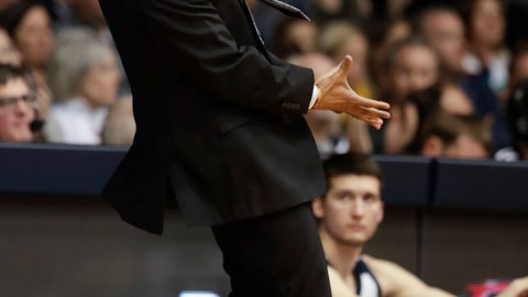 <p>               Butler head coach LaVall Jordan gestures in the first half of an NCAA college basketball game against Villanova in Indianapolis, Tuesday, Jan. 22, 2019. (AP Photo/Michael Conroy)             </p>