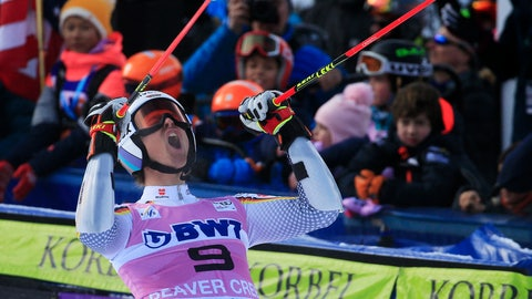 <p>               FILE - In this Sunday, Dec. 2, 2018 file photo, Germany's Stefan Luitz celebrates after the second run of a Men's World Cup giant slalom skiing race, in Beaver Creek, Colo. The International Ski Federation has disqualified Stefan Luitz from his first World Cup win for inhaling from an oxygen tank between giant slalom runs. (AP Photo/Nathan Bilow, File)             </p>