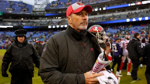 <p>               FILE - In this Sunday, Dec. 16, 2018 file photo, Tampa Bay Buccaneers head coach Dirk Koetter walks off the field after an NFL football game against the Baltimore Ravens in Baltimore. The Atlanta Falcons are bringing back two familiar names by hiring Dirk Koetter as offensive coordinator and Mike Mularkey to coach tight ends. Koetter and Mularkey are joining coach Dan Quinn's staff following stints as NFL head coaches.  (AP Photo/Carolyn Kaster, File)             </p>