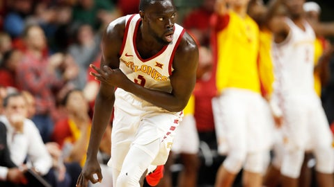 <p>               Iowa State guard Marial Shayok reacts after making a three-point basket during the second half of an NCAA college basketball game against Kansas, Saturday, Jan. 5, 2019, in Ames, Iowa. (AP Photo/Charlie Neibergall)             </p>