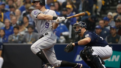 <p>               FILE - In this Oct. 5, 2018, file photo, Colorado Rockies' DJ LeMahieu hits a single during the third inning of Game 2 of the National League Divisional Series baseball game against the Milwaukee Brewers, in Milwaukee. A star second baseman for Colorado, LeMahieu is set to join a crowded New York Yankees infield. LeMahieu became a free agent after the season and got a $24 million, two-year contract with the Yankees. (AP Photo/Jeff Roberson, File)             </p>