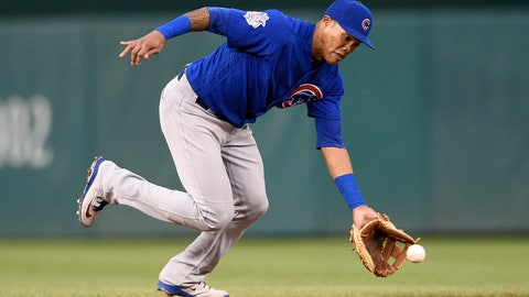 <p>               FILE - In this Sept. 8, 2018, file photo, Chicago Cubs shortstop Addison Russell fields a ground ball by Washington Nationals' Anthony Rendon during the fifth inning of the first baseball game of a doubleheader, Saturday, Sept. 8, 2018, in Washington. Russell and the Cubs have agreed to a $3.4 million, one-year contract, a relatively small $200,000 raise for a player whose relationship with the team appeared strained after a domestic violence suspension. (AP Photo/Nick Wass, File)             </p>