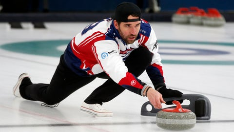 <p>               In this Jan. 3, 2019 photo, former Minnesota Vikings football player Jared Allen practices with his curling team for a competition in Blaine, Minn. Allen retired from the NFL in 2015 and wasn't ready to give up on the competition he'd come to enjoy as a five-time All-Pro in a 12-year career. His solution: Make it to the 2022 Olympics _ in curling. Less than a year later, he and three other former NFL players who have never curled before will attempt to qualify for the U.S. championships against curlers who have been throwing stones for most of their lives. (AP Photo/Jim Mone)             </p>