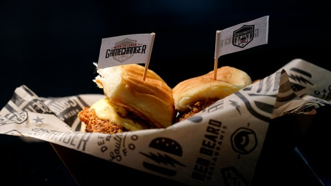 <p>               A sandwich is prepared for the media to taste during a tour of Mercedes-Benz Stadium for the NFL Super Bowl 53 football game Tuesday, Jan. 29, 2019, in Atlanta. (AP Photo/David J. Phillip)             </p>