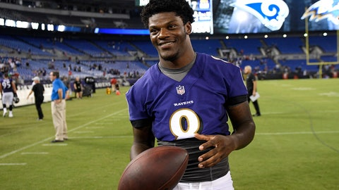<p>               FILE - In this Aug. 9, 2018, file photo, Baltimore Ravens quarterback Lamar Jackson stands on the field after a preseason NFL football game against the Los Angeles Rams, in Baltimore. Jackson will become the first 21-year-old to start at quarterback in an NFL postseason game Sunday, Jan. 9, 2019, when Baltimore hosts the Los Angeles Chargers. (AP Photo/Nick Wass, File)             </p>