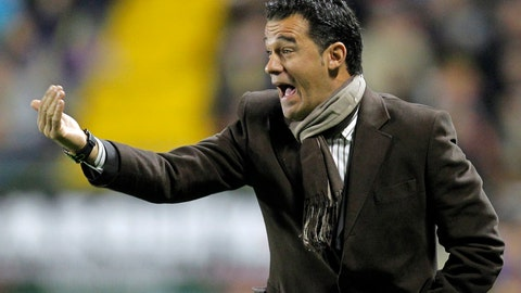 <p>               FILE - In this Thursday, Jan. 6, 2011 file photo, the then Levantes coach Luis Garcia Plaza gestures to his players during their Copa del Rey soccer match against Real Madrid at the Ciutat De Valencia stadium in Valencia, Spain. Villarreal fired coach Luis Garcia Plaza, Tuesday Jan. 29, 2019, after they won only one of its nine matches under his command, leaving the team second-to-last in the Spanish league standings. (AP Photo/Alberto Saiz, File)             </p>