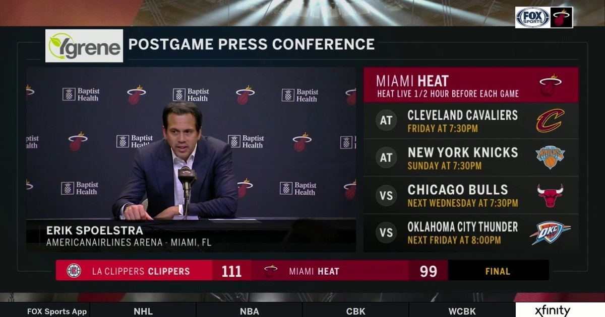 Erik Spoelstra on giving up 2nd-chance points, how Clippers took control late with defense