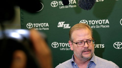 <p>               New York Jets general manager Mike Maccagnan speaks to reporters in Florham Park, N.J., Monday, Dec. 31, 2018. After firing Todd Bowles on Sunday night, the New York Jets are focused on bringing in someone who will be able to lead a franchise that has missed the playoffs for eight straight seasons but has a promising young quarterback in Sam Darnold and expects to be busy in free agency this offseason. (AP Photo/Seth Wenig)             </p>