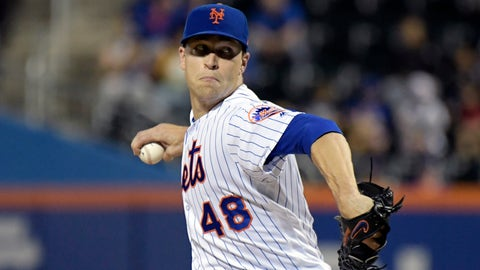 <p>               FILE - In this Sept. 26, 2018, file photo, New York Mets pitcher Jacob deGrom delivers the ball to the Atlanta Braves during the second inning of a baseball game in New York. NL Cy Young Award winner Jacob deGrom and the New York Mets agreed to a $17 million, one-year contract, a record raise for an arbitration-eligible player from his $7.4 million salary. The deal was agreed to Friday, Jan. 11, 2019, before the pitcher and team were to exchange proposed salaries in arbitration.(AP Photo/Bill Kostroun, File)             </p>