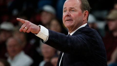 <p>               In this Jan. 12, 2019, photo, Mississippi basketball coach Kermit Davis directs team floor action in a NCAA college basketball game against in-state rival, Mississippi State, in Starkville, Miss. The coaching comeback of Davis is a tale three decades in the making and as Mississippi's first-year coach has the Rebels back in the AP Top 25 for the first time since 2013. (AP Photo/Rogelio V. Solis)             </p>