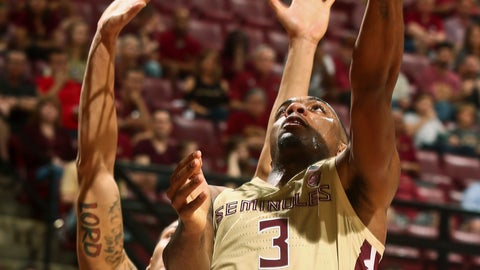 <p>               Florida State guard Trent Forrest (3) makes a reverse layup as Winthrop forward Josh Ferguson (25) defends in the second half of an NCAA college basketball game in Tallahassee, Fla., Tuesday, Jan. 1, 2019. Florida State won 87-76. (AP Photo/Phil Sears)             </p>