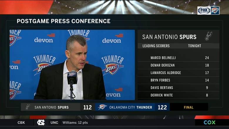 Billy Donovan on bounce-back win over San Antonio