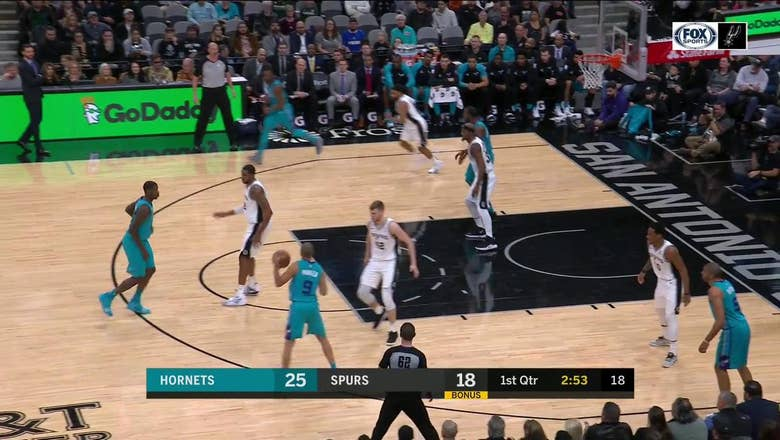 HIGHLIGHTS: Davis Bertans with the Block on Tony Parker