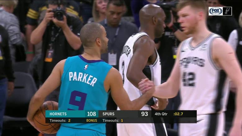 WATCH: Tony Parker receives Standing Ovation in Final seconds