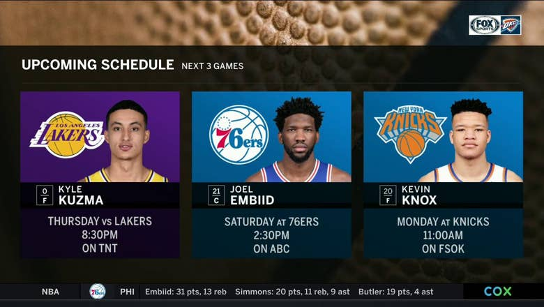 Upcoming Schedule for OKC | Thunder Live