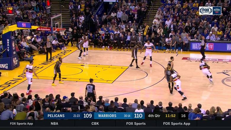 HIGHLIGHTS: Anthony Davis takes the contact in the paint