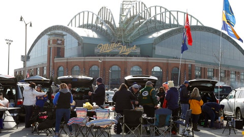<p>               FILE - In this April 2, 2018, file photo, fans tailgate in the parking lot of Miller Park before a home opener baseball game between the Milwaukee Brewers and St. Louis Cardinals, in Milwaukee. The Brewers' home ballpark will be renamed when MillerCoors' naming rights expire following the 2020 season. MillerCoors said in a statement Tuesday, Jan. 22, 2019, the rights to Miller Park will go to American Family Insurance beginning in 2021. (AP Photo/Jeffrey Phelps)             </p>