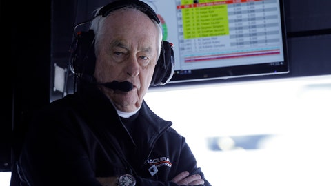 <p>               FILE - In this Jan. 26, 2019, file photo, Penske Acura team owner Roger Penske monitors his Acura DPi cars on the track from his pit stall at the IMSA 24-hour race at Daytona International Speedway in Daytona Beach, Fla. Penske's drivers swept all the races at Indianapolis Motor Speedway and his reward has been induction into the NASCAR Hall of Fame. Penske will be honored Friday night along with Jeff Gordon, deceased drivers Davey Allison and Alan Kulwicki and fellow team owner Jack Roush. (AP Photo/Terry Renna, File)             </p>