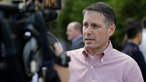 <p>               FILE - In this Nov. 14, 2017, file photo, John Ricco, a New York Mets assistant general manager, talks with members of the media at the annual MLB general managers' meetings in Orlando, Fla. Ricco is staying with the Mets and has been promoted to the new position of senior vice president and senior strategy officer. The 50-year-old will report to chief operating officer Jeff Wilpon--a son of owner Fred Wilpon--on business and finance projects. (AP Photo/John Raoux, File)             </p>
