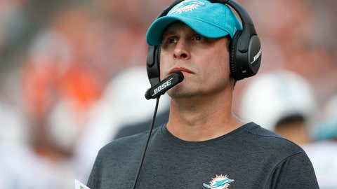 <p>               FILE - In this Oct. 7, 2018, file photo Miami Dolphins head coach Adam Gase stand on the sideline during the first half of an NFL football game against the Cincinnati Bengals in Cincinnati.  Gase has been fired after three seasons as the Miami Dolphins coach, including a 7-9 finish this year. Gase confirmed his dismissal in a text message Monday, Dec. 31 to The Associated Press. (AP Photo/Gary Landers, File)             </p>