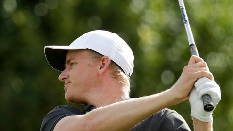 <p>               Adam Long watches his tee shot on the fourth hole during the final round of the Desert Classic golf tournament on the Stadium Course at PGA West on Sunday, Jan. 20, 2019, in La Quinta, Calif. (AP Photo/Chris Carlson)             </p>