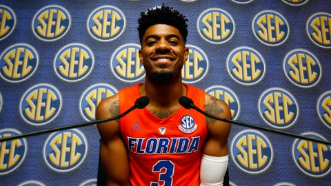 <p>               FILE- In this Oct. 17, 2018, file photo, Florida's Jalen Hudson speaks during the Southeastern Conference NCAA college basketball media day in Birmingham, Ala. Hudson has been more of an erratic enigma than a valuable veteran this season. The team's leading scorer last season is averaging a career-low 6.2 points. (AP Photo/Butch Dill, File)             </p>