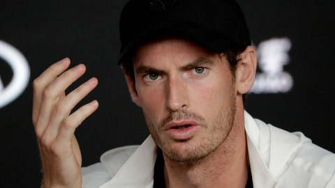 <p>               FILE - In this Tuesday, Jan. 15, 2019 file photo, Britain's Andy Murray answers questions at a press conference following his first round loss to Spain's Roberto Bautista Agut at the Australian Open tennis championships in Melbourne, Australia. Three-time major champion Andy Murray posted a message Tuesday Jan. 29, 2019 on Instagram saying he had hip resurfacing surgery and had a metal joint implanted on Monday in London. (AP Photo/Aaron Favila, File)             </p>