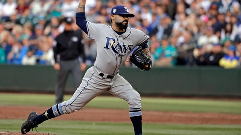 <p>               FILE - In this June 1, 2018, file photo, Tampa Bay Rays starting pitcher Sergio Romo throws to a Seattle Mariners batter during the first inning of a baseball game in Seattle. A person familiar with the negotiations tells The Associated Press that Major League Baseball has proposed going back to a 15-day disabled list and increasing the time optioned players usually must spend in the minor leagues. The moves are aimed at reducing the use of relief pitchers and reviving offense. (AP Photo/Ted S. Warren, File)             </p>