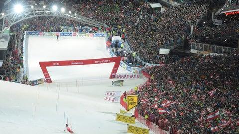 <p>               Austria's Marcel Hirscher competes in an alpine ski, men's World Cup slalom in Schladming, Austria, Tuesday, Jan. 29, 2019. (AP Photo/Marco Tacca)             </p>