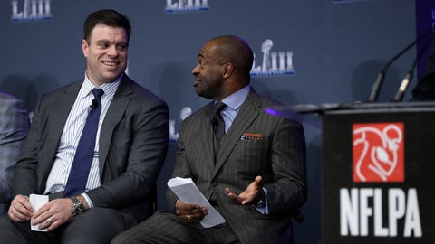 <p>               NFL Players Association President Eric Winston, left, talks with Executive Director DeMaurice Smith during a news conference at the media center for the NFL Super Bowl 53 football game Thursday, Jan. 31, 2019, in Atlanta. (AP Photo/David J. Phillip)             </p>