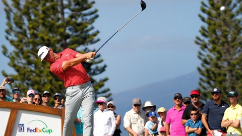 <p>               Gary Woodland plays his shot from the third tee during the third round of the Tournament of Champions golf event, Saturday, Jan. 5, 2019, at Kapalua Plantation Course in Kapalua, Hawaii. (AP Photo/Matt York)             </p>