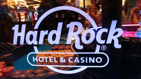 """<p>               This July 5, 2018 photo shows a roulette dealer behind the glass at a table at the Hard Rock casino in Atlantic City, N.J. On Jan. 26, 2019, Hard Rock began so-called """"soft-play"""" testing of its sports betting equipment and systems and said it hopes to have online and in-person sports betting available before the Feb. 3 Super Bowl. (AP Photo/Wayne Parry)             </p>"""