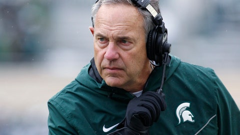 <p>               FILE - In this Oct. 27, 2018, file photo, Michigan State coach Mark Dantonio watches the second quarter of the team's NCAA college football game against Purdue in East Lansing, Mich. Brad Salem is taking over as Michigan State's offensive coordinator after Dantonio rearranged several roles on his staff. The Spartans did not announce any firings or new hires Thursday, Jan. 10, but several assistants will be in different jobs. Salem moves from quarterbacks coach to offensive coordinator, and he'll also coach running backs. Dave Warner and Jim Bollman, who have been co-offensive coordinators for Michigan State, will no longer have that duty. Warner will coach quarterbacks, and Bollman will coach the offensive line. (AP Photo/Al Goldis, File)             </p>
