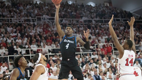 <p>               DePaul forward Paul Reed (4) shoots in the first half of an NCAA college basketball game against St. John's, Saturday, Jan. 12, 2019, in New York. (AP Photo/Mary Altaffer)             </p>