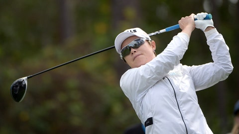 <p>               Eun-Hee Ji, of South Korea, watches her tee shot on the second hole during the final round of the Tournament of Champions LPGA golf tournament Sunday, Jan. 20, 2019, in Lake Buena Vista, Fla. (AP Photo/Phelan M. Ebenhack)             </p>