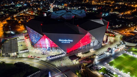 <p>               FILE - This is a Sept. 21, 2018, file photo showing Mercedes-Benz Stadium in Atlanta. Build it and the Super Bowl will come. While that's not exactly how the sites of the NFL's championship extravaganza are determined, it sure doesn't hurt to have a brand new, billion-dollar facility in your city. (AP Photo/Danny Karnik, File)             </p>