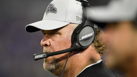 <p>               FILE - In this Aug. 30, 2018, file photo, Baltimore Ravens defensive coordinator Don Martindale stands on the sideline in the second half of a preseason NFL football game against the Washington Redskins, in Baltimore. Making the most of a second chance, Don Martindale has done a masterful job assembling and directing the top-ranked defense in the NFL. (AP Photo/Nick Wass, File)             </p>